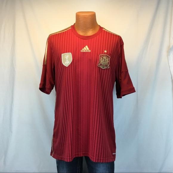 370a12a44 adidas Shirts | Spain Football Team Climacool Jersey | Poshmark